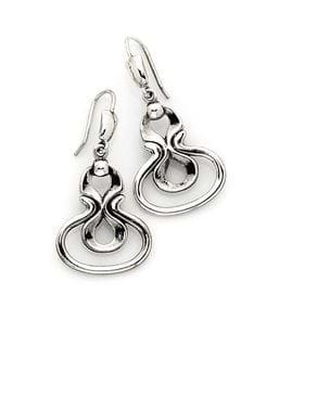 Desborough Mirror Earrings - Sterling Silver
