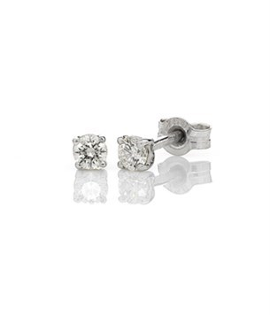 White gold claw set diamond studs, Melbourne Australia