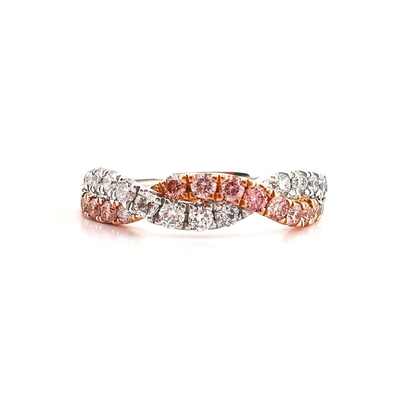 Argyle pink diamond twist band, Melbourne Australia