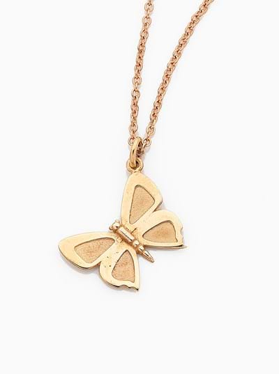 Large Eltham Copper Butterfly Charm - 9ct Yellow Gold