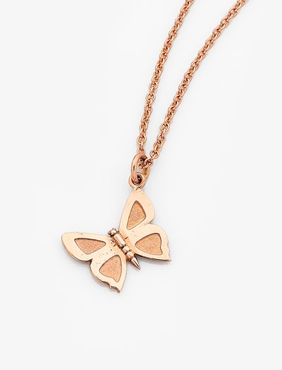 Large Eltham Copper Butterfly Charm - 9ct Rose Gold
