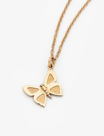 Medium Eltham Copper Butterfly Charm - 9ct Yellow Gold