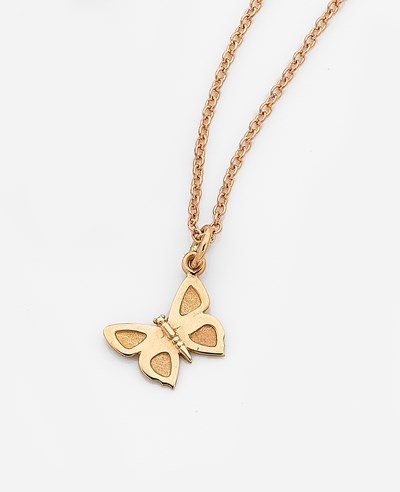 Small Eltham Copper Butterfly Charm - 9ct Yellow Gold
