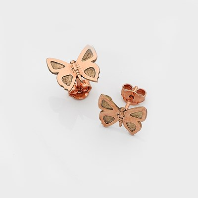 Eltham Copper Butterfly Studs - 9ct Rose Gold