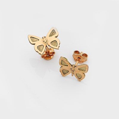 Eltham Copper Butterfly Studs - 9ct Yellow Gold