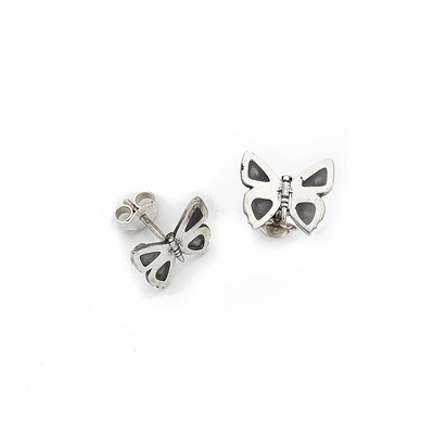 Eltham Copper Butterfly Studs - Sterling Silver