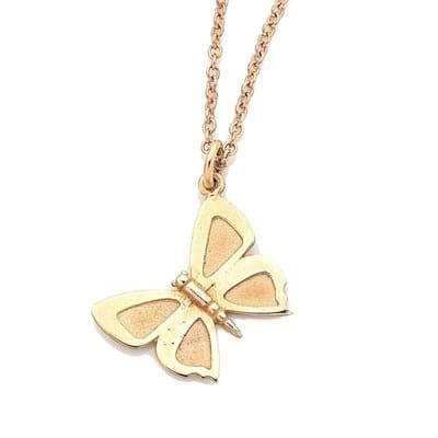 Large Eltham Copper Butterfly Charm - Sterling Silver