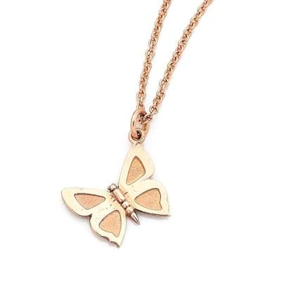 Medium Eltham Copper Butterfly Charm - 9ct Rose Gold