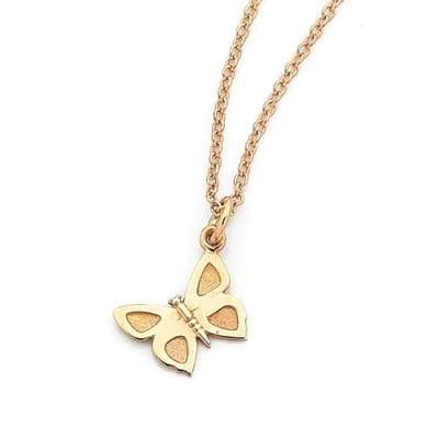 Small Eltham Copper Butterfly Charm - Sterling Silver
