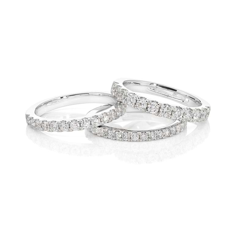 Claw Set Diamond Bands