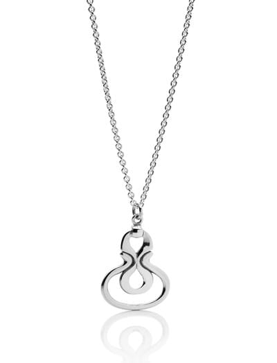 Desborough Mirror Pendant - Sterling Silver