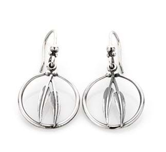 Gumleaf Frame Earrings - Sterling Silver