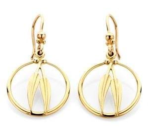Gumleaf Frame Earrings - 9ct Yellow Gold