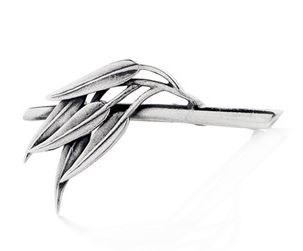 Gumleaf on Branch Brooch - Sterling Silver