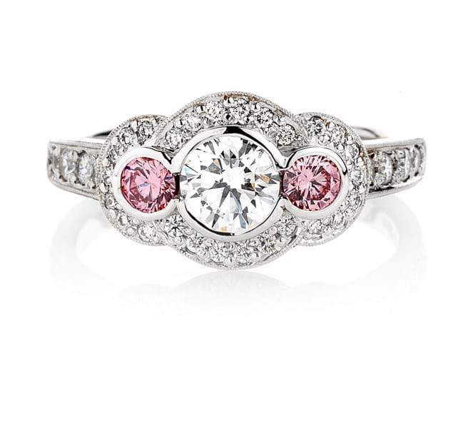 Argyle Pink Diamond Engagement or Dress Ring, Melbourne Australia