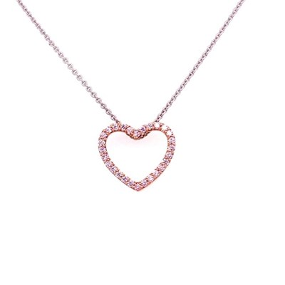 Argyle pink diamond rose gold pendant on white gold adjustable chain, Melbourne Australia