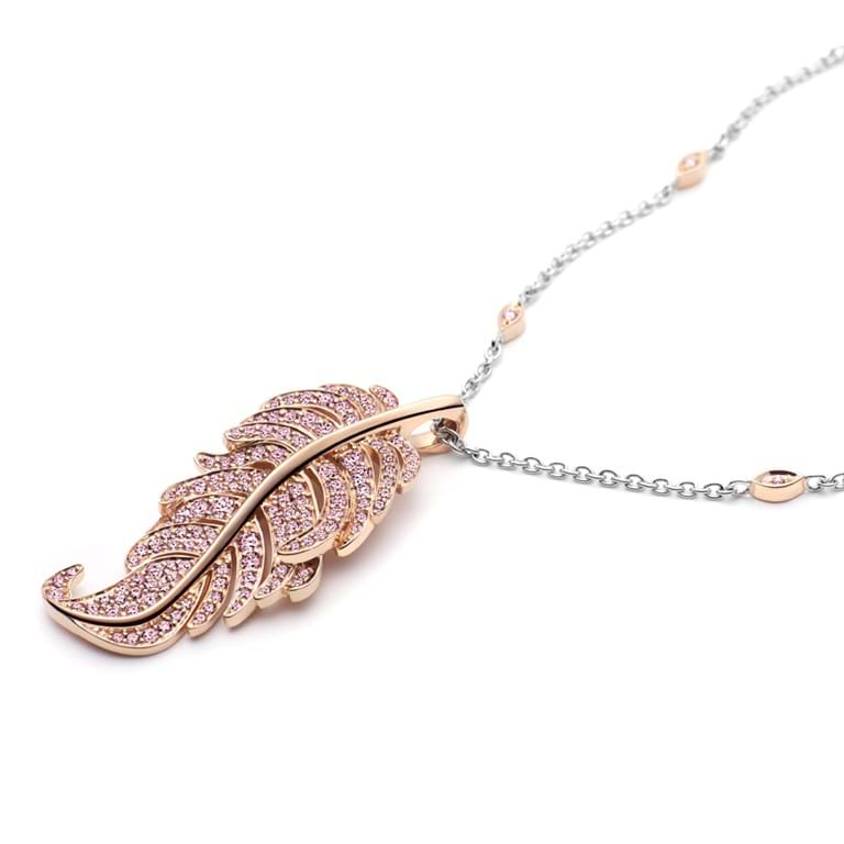 Argyle Pink Diamond Plume Necklace