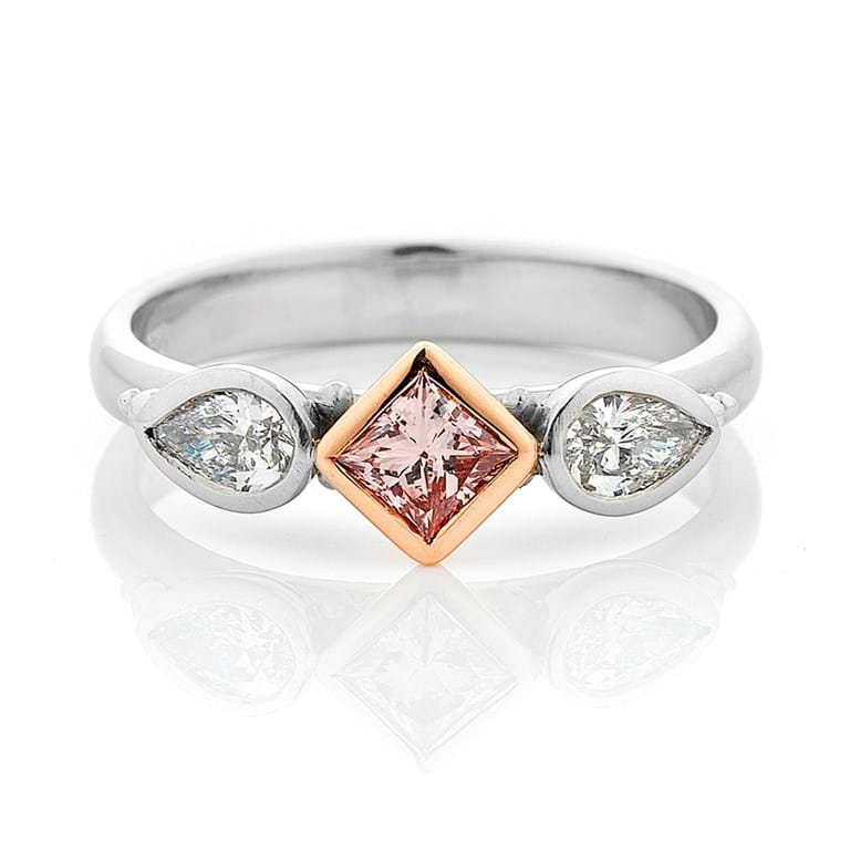 Argyle Pink Diamond Granulation Ring