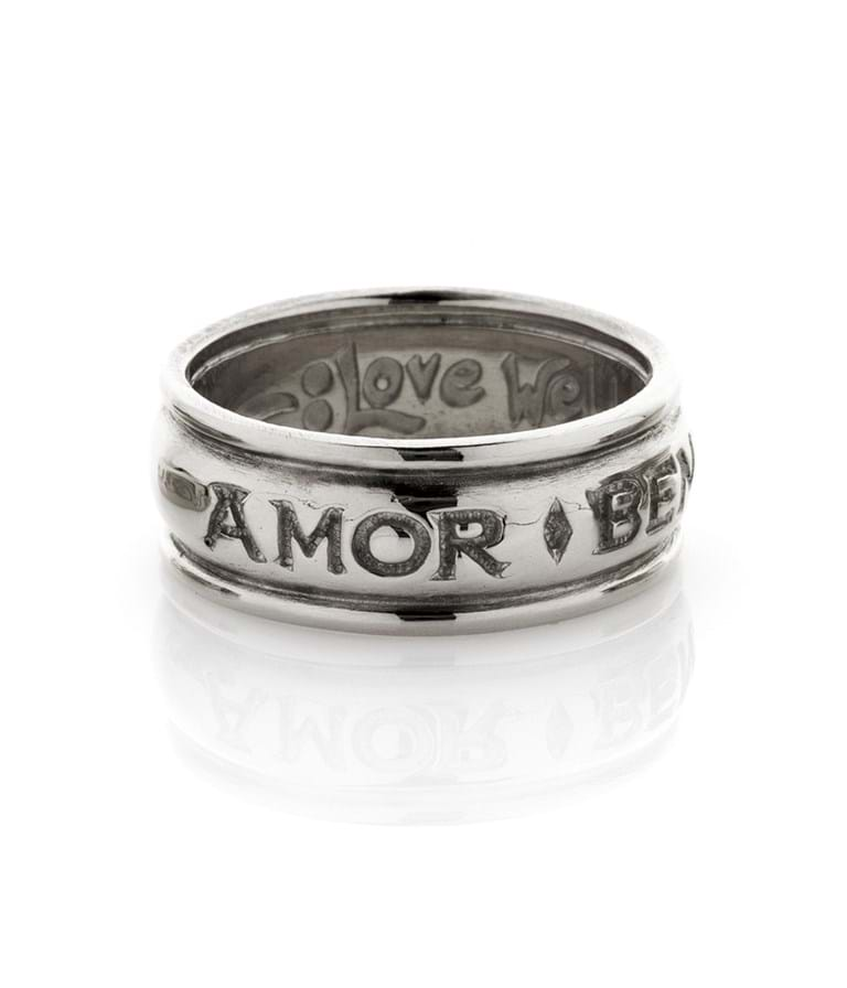 Silver Love Well Live Well Ring